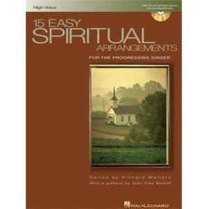 COMPILATION - 15 EASY SPIRITUAL FOR HIGH VOICE AND P/V/G + CD