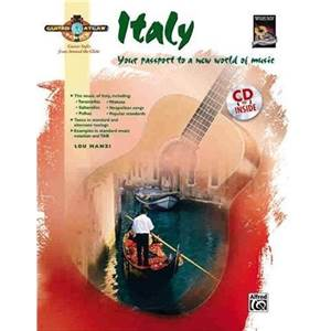MANZI LOU - GUITAR ATLAS ITALY YOUR PASSPORT TO A NEW WORLD OF MUSIC + CD