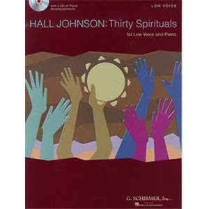 JOHNSON HAL - 30 SPIRITUALS FOR LOW VOICE + CD