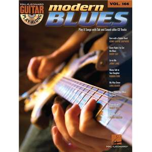 COMPILATION - GUITAR PLAY ALONG VOL.166 MODERN BLUES + CD