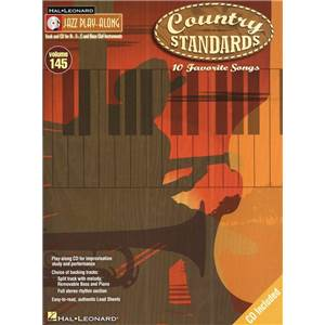 COMPILATION - JAZZ PLAY ALONG VOL.145 COUNTRY STANDARDS + CD