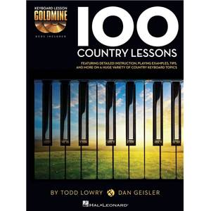 DENEFF / EDSTROM - 100 COUNTRY LESSONS KEYBOARD LESSON GOLDMINE SERIES + 2 CD