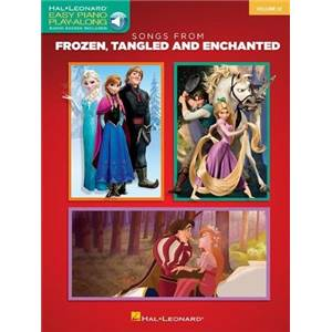 DISNEY - PLAY-ALONG 32 SONGS FROM FROZEN TANGLED AND ENCHANTED EASY PIANO +CD