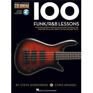 GORENBERG / KRINGEL - 100 FUNK/R&B LESSONS BASS LESSON GOLDMINE SERIES + AUDIO ACCESS