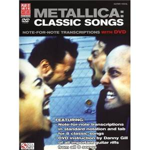 METALLICA - CLASSIC SONGS GUITAR + DVD