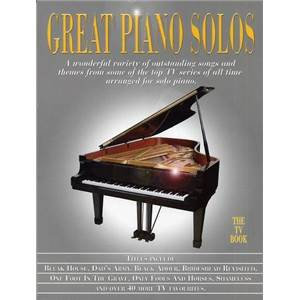 COMPILATION - GREAT PIANO SOLOS TV BOOK