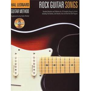 HAL LEONARD - ROCK GUITAR METHOD ROCK GUITAR SONGS + CD