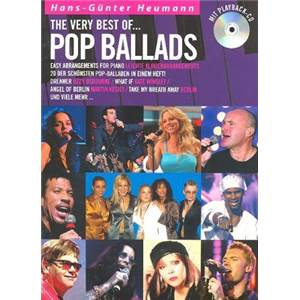 COMPILATION - POP BALLADS THE VERY BEST OF ARRANGEMENT PIANO FACILE + CD