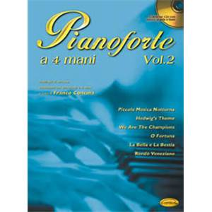CONCINA FRANCO - PIANOFORTE ANTOLOGIA 4 MAINS VOL.2 + CD