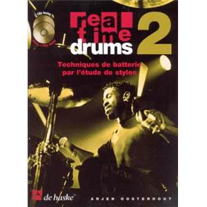 OOSTERHOUT ARJEN - REAL TIME DRUMS VOL.2 TECHNIQUES DE BATTERIE PAR L'ETUDE DES STYLES + 2CD