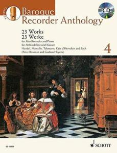 BAROQUE RECORDER ANTHOLOGY VOL.4 +CD - FLUTE A BEC ALTO ET PIANO