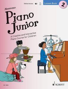 HEUMANN HANS GUNTER - PIANO JUNIOR : LESSON BOOK 2 +ONLINE ACCESS