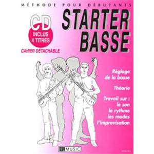 BILLAUDY PATRICK - STARTER BASSE METHODE DEBUTANT + CD