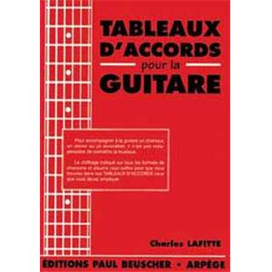 LAFITTE CHARLES - TABLEAUX D'ACCORDS POUR LA GUITARE