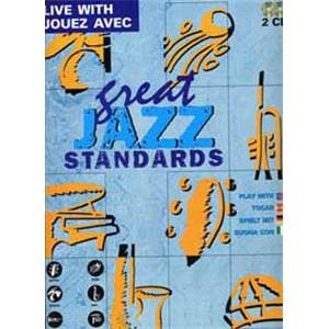 COMPILATION - JOUEZ AVEC GREAT JAZZ STANDARDS + 2CDS