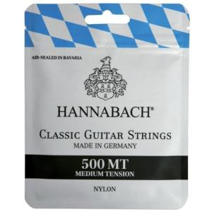 JEU CORDES GUITARE CLASSIQUE HANNABACH 500 MT MEDIUM TENSION