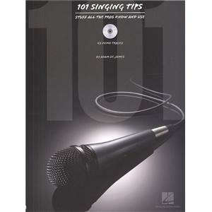 ST. JAMES ADAM - 101 SINGING TIPS STUFF ALL PROS KNOW AND USE + CD