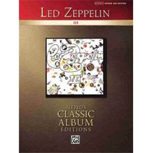 LED ZEPPELIN - CLASSIC ALBUM VOL.3 EDITIONS GUITAR TAB.