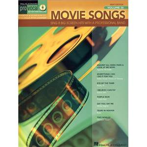 COMPILATION - PRO VOCAL FOR MALE SINGERS VOL.30 MOVIE SONGS + CD
