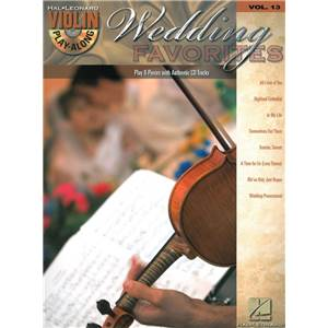 COMPILATION - VIOLIN PLAY ALONG VOL.013 WEDDING FAVOURITES + CD
