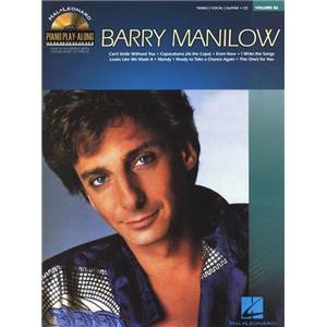 MANILOW BARRY - PIANO PLAY ALONG VOL.086 + CD