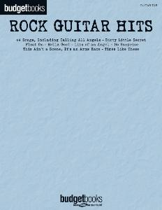 COMPILATION - BUDGET BOOKS ROCK GUITAR HITS GUITAR TAB. 44 SONGS