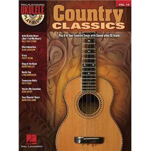 COMPILATION - UKULELE PLAY ALONG VOL.15 COUNTRY CLASSICS + CD