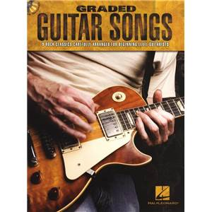 COMPILATION - GRADED GUITAR SONGS 9 ROCK CLASSICS FOR BEGINNERS + CD