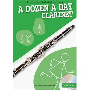 BURNAM EDNA MAE - A DOZEN A DAY CLARINET + CD