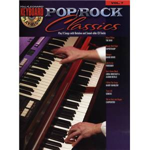 COMPILATION - KEYBOARD PLAY ALONG VOL.07 POP/ROCK CLASSICS + CD