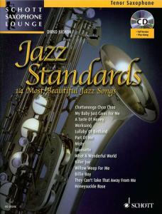 COMPILATION -  JAZZ STANDARDS FOR TENOR SAXOPHONE (SIB) +CD