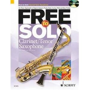 HUGUES / HARVEY - FREE TO SOLO CLARINETTE OU SAXOPHONE SIB + CD