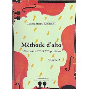 JOUBERT CLAUDE HENRY - METHODE D'ALTO VOL.2 32 LECONS POSITIONS NO.1 ET 3