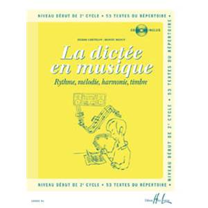 CHEPELOV/MENUT - LA DICTEE EN MUSIQUE VOL.4 - DEBUT DU 2EME CYCLE + CD - DICTEES MUSICALES
