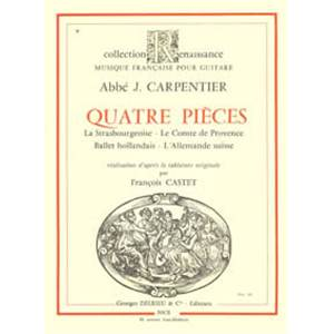 CARPENTIER - PIECES (4) - GUITARE