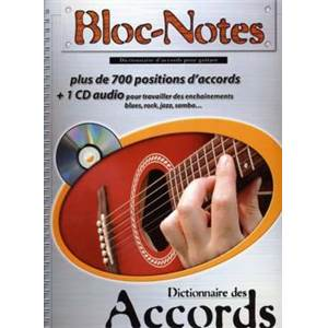 ROUX DENIS - BLOC NOTES DICTIONNAIRE DES ACCORDS DE GUITARE + CD