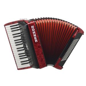 ACCORDEON PIANO HOHNER BRAVO III 80 ROUGE