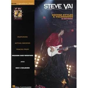 VAI STEVE - STYLES AND TECHNIQUES GUITAR SIGNATURE LICKS + CD
