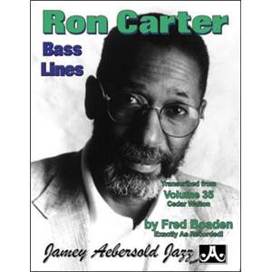 CARTER RON - BASS LINES AEBERSOLD 35