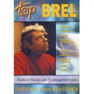 BREL JACQUES - TOP BREL PIANO SIMPLIFIE PAROLES ET ACCORDS#