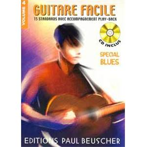 COMPILATION - GUITARE FACILE 15 STANDARDS VOL.4 SPECIAL BLUES + CD