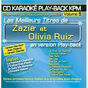 ZAZIE / RUIZ OLIVIA - CD KARAOKE VOL.05 AVEC CHOEUR + VERSIONS CHANTEES