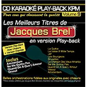 BREL JACQUES - CD KARAOKE VOL.09 AVEC CHOEUR + VERSIONS CHANTEES