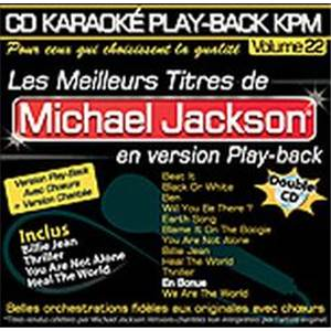 JACKSON MICHAEL - CD DOUBLE KARAOKE VOL.22 AVEC CHOEUR + VERSIONS CHANTEES