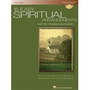 COMPILATION - 15 EASY SPIRITUAL FOR LOW VOICE P/V/G + CD