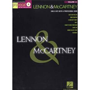 COMPILATION - PRO VOCAL FOR MALE SINGERS VOL.14 LENNON AND MCCARTNEY + CD