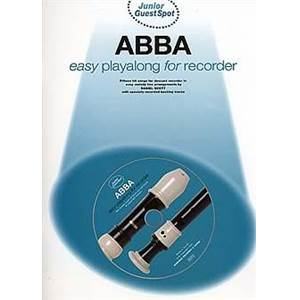 COMPILATION - JUNIOR GUEST SPOT: ABBA EASY PLAY ALONG (FLÛTE A BEC) + CD
