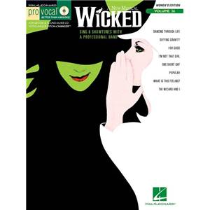 COMPILATION - PRO VOCAL FOR WOMEN SINGERS VOL.36 WICKED + CD