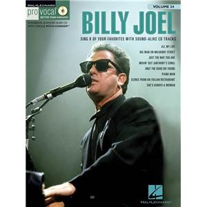 JOEL BILLY - PRO VOCAL FOR MALE SINGERS VOL.34 + CD