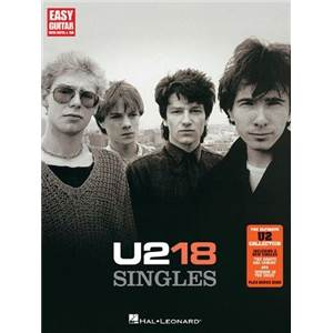 U2 - 18 SINGLES EASY GUITAR TAB.
